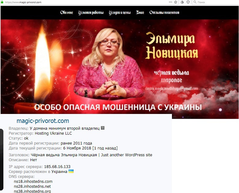 Эльмира Новицкая отзывы, privorot-love.com, elmira.magic.novitskaya@gmail.com